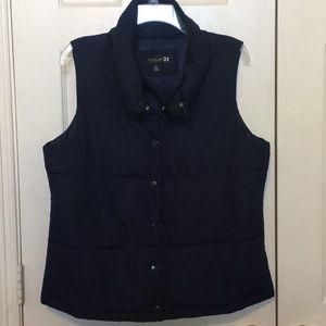 Forever 21 Navy Puffer Vest